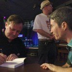 Forgive me, author, for I have sinned: signing for old pal and Vancouver Sun reporter Kevin Griffin.