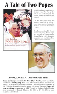 """""""A Tale of Two Popes"""" – Daniel Gawthrop to speak at Greater Victoria Public Library"""