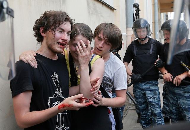 APTOPIX Russia Gay Rights